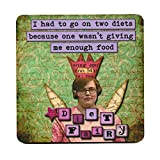 I had to go on Two Diets Because one Wasn't Giving me Enough Food. Retro Humour Single Mug Coaster
