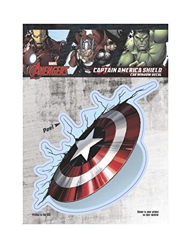 Marvel ST MAVAS CSHLD Captain America Thrown Shield Car Window Decal (6x8)