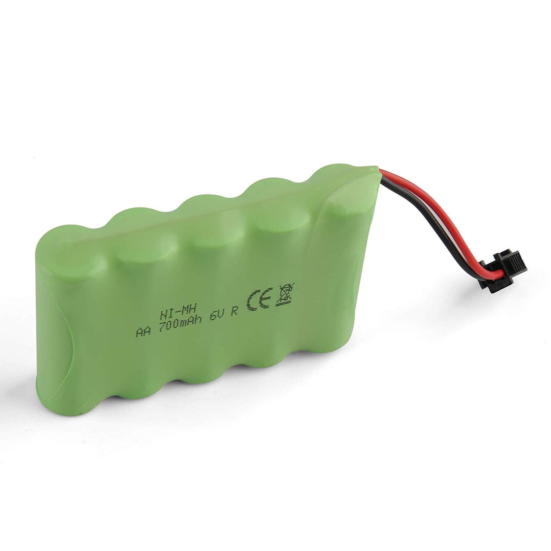 GizmoVine RC Voitures Batterie 6V 700mAh Rechargeable Batterie