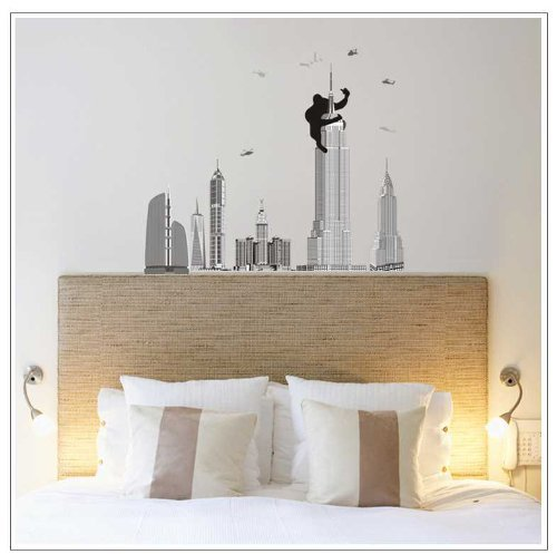 OneHouse Monkey the Pentagon City Mural Wall Sticker for Fashion Brief Home Decorative - City Pentagon Fashion
