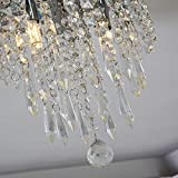 Lifeholder Mini Chandelier, Crystal Chandelier Lighting, 2 Lights, Flush Mount Ceiling Light, H10.4'' x W8.66'' Modern Chandelier Lighting Fixture for Bedroom, Hallway, Bar, Kitchen, Bathroom