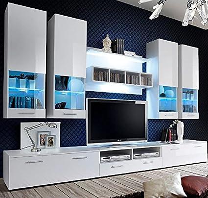 Muebles Bonitos Mueble de saln Arlesa blanco 3M Amazones Hogar