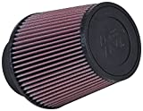 K&N RE-0950 Universal Clamp-On Air Filter: Round Tapered; 3.5 in (89 mm) Flange ID; 6 in (152 mm) Height; 6 in (152 mm) Base; 4.625 in (117 mm) Top