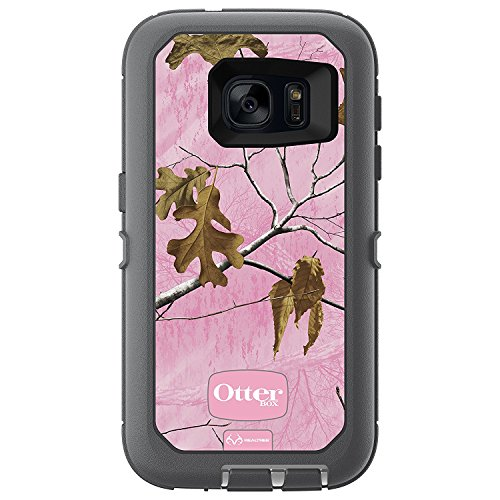 Rugged Protection OtterBox Defender Series Case for Samsung Galaxy S7 (Fits Galaxy S7 Only) - Bulk Packaging - Realtree Xtra Pink (White/Gunmetal Grey/RT Xtra Pink)