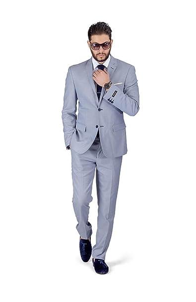 Amazon.com: Slim Fit AZAR 11812 - Traje para hombre con ...