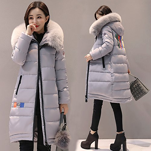 Grey Duvets Winter And Cotton Ladies' The Long Cotton Coat Of Winter Section Cotton Women Clothing And Xuanku Coat Tvcv0