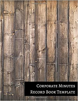 corporate minutes record book template accounts 9781521221693