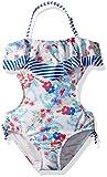 Jessica Simpson Toddler Girls' One-Piece Monokini Swimsuit, Vintage Floral, 3T
