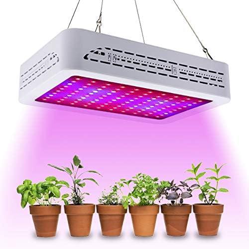 Golspark 1000W LED Grow Light Full Spectrum for Greenhouse, Double Switch Plant Light for Veg and Flower