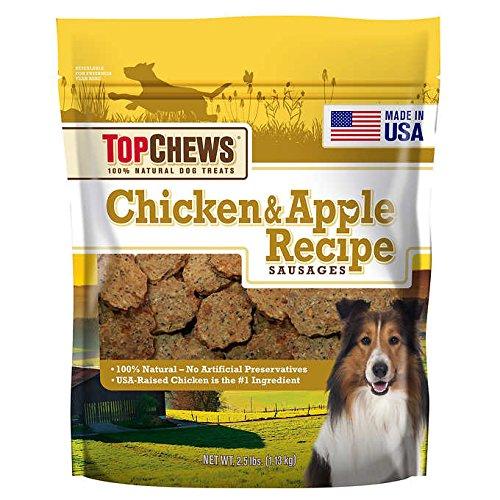Dog Recipes Apple Treat (Top Chews Chicken & Apple Recipe 100% Natural Dog Treats)