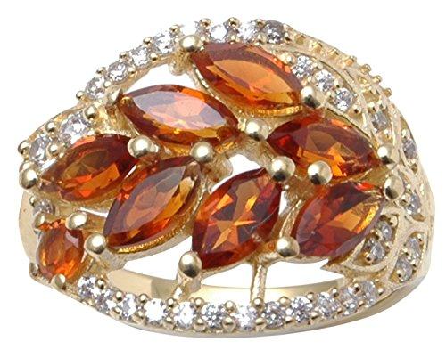 Madeira Citrine Gemstone - Banithani 925 Sterling Silver Madeira Citrine Gemstone Finger Ring Women Fashion Jewelry