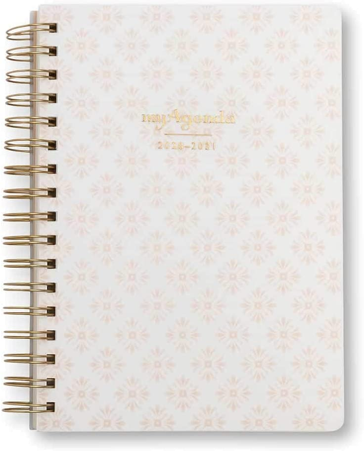 myAgenda Desktop Spiral Day Planner (July 2020- December 2021) Organize Your Busy Life with Our Unique Week-at-A-View Layout. Weekly Inspirational Quotes Included. (Blushing Blooms)