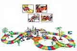 Children Kids Fun Car Flexible Variable Track Set 257 Pcs LED Light Battery Operated Racing Game Set