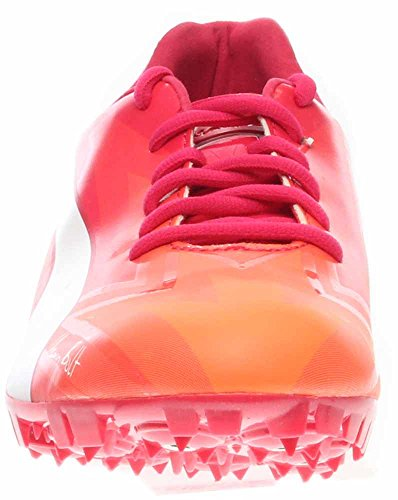 PUMA Mens Bolt Evospeed Electric V3 Sneaker Fluo Peach-rose Red-white olaYonVP