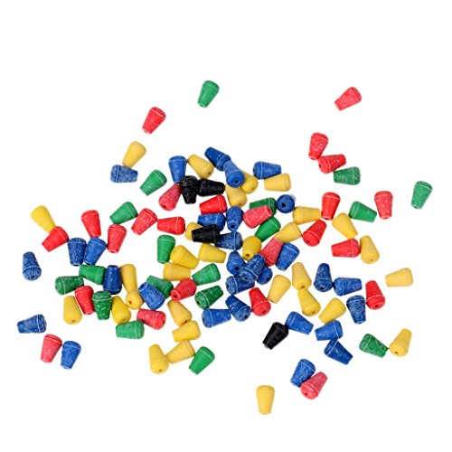 Jili Online 100Pcs Colorful Soft Shock Beads Buffer Beads Carp Fishing Terminal Tackle - Cone ()