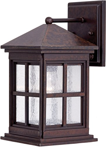 Minka Lavery Outdoor Wall Light 8561-51 Berkeley Exterior Wall Lantern, 75 Watts, Brass
