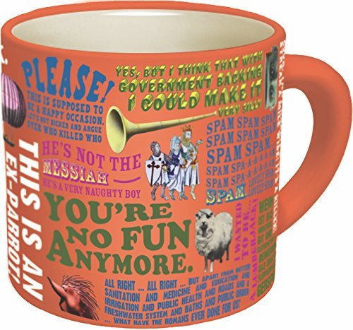 Monty Python Quotes Coffee Mug - Quotes from The Flying Circus as Well as Monty Python's Best Movies - Comes in a Fun Gift Box - by The Unemployed Philosophers Guild