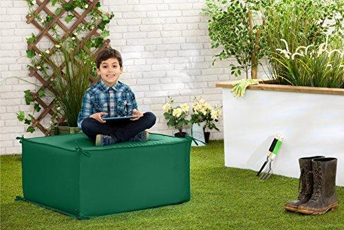 Wasserfest Außen Garten Block-bestuhlung Gartenmöbel Liegestuhl, Erhältlich in 6 Farben und 2 Größen - Grün, Small