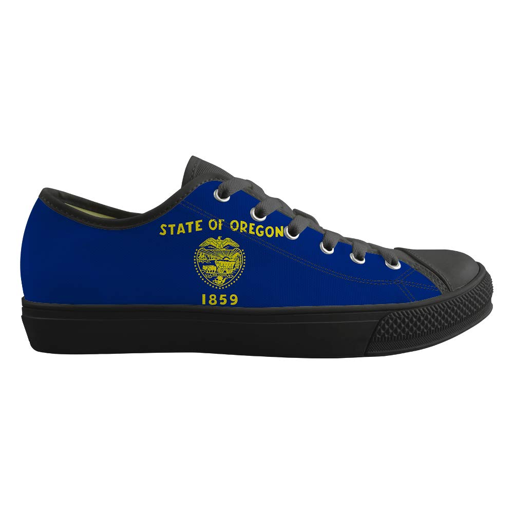 Classic Sneakers Unisex Adults Low-Top Trainers Skate Shoes Beaver State Oregon Flag