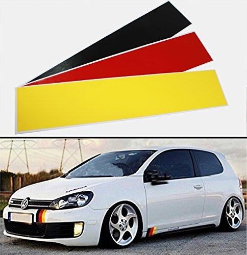 Grill Door Handle (10'' x 2'' Black/Red/Yellow German Flag Euro Color Vinyl Strips Stickers Wrap For Grill/Hood/Door/Mirror)