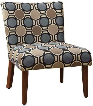 Meadow Lane Accent Chair, Blue and Tan