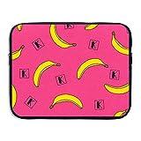 Ministoeb Cute Banana Love Art Laptop Storage Bag - Portable Waterproof Laptop Case Briefcase Sleeve Bags Cover