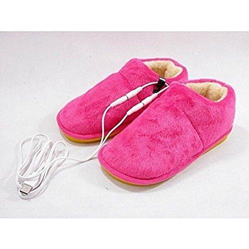 Home Care Wholesale USB Climatizada Zapatillas Pink
