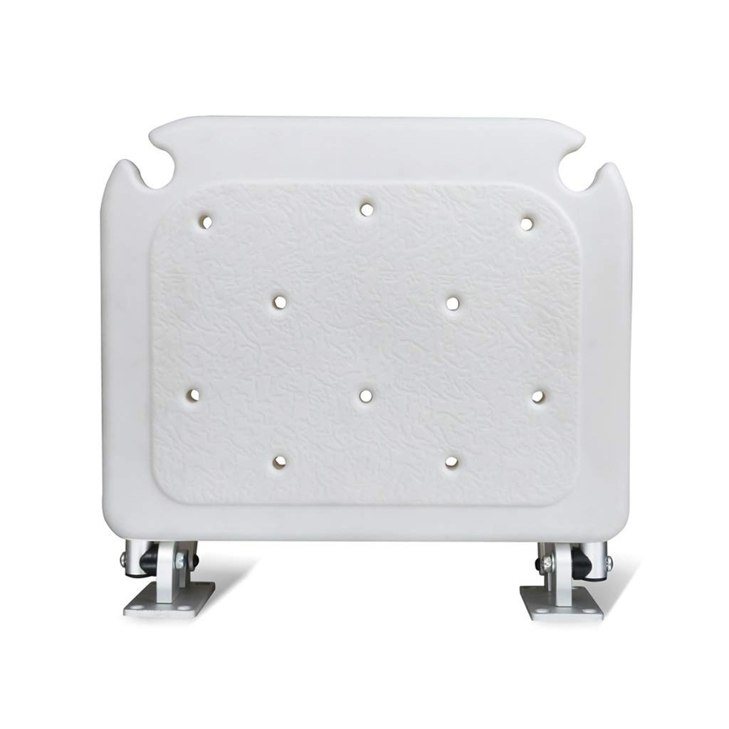 Bath Stool Bathroom Folding Stool Shower Room Entrance Door Wearing Shoes Maternity Room Dressing Room Wall-Mounted Seat (Color : White, Size : 38cm40cm42cm)