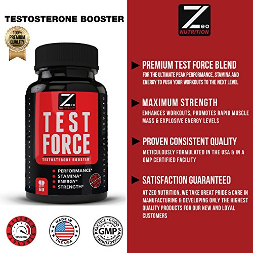TEST:FORCE - 100% Natural Maximum Strength & Potent Testosterone Booster For Men - Supercharges Vitality, Muscle Mass & Powerful Energy Booster - Full 30-Day Cycle by Zeo Nutrition by Zeo Nutrition (Image #5)