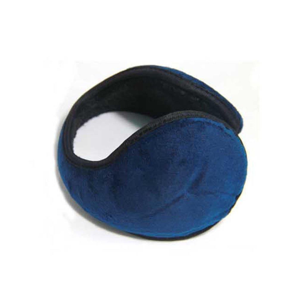 Pure color inverno paraorecchie scaldamuscoli orecchio pile avvolgente dietro la testa stile protezione navy blue EMVANV