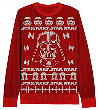 Star Wars Darth Vader Adult Red Sweater (Adult X-Small)