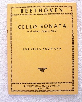 (Cello Sonata in G Minor, Opus 5, No. 2. Transcribed for Viola & Piano)