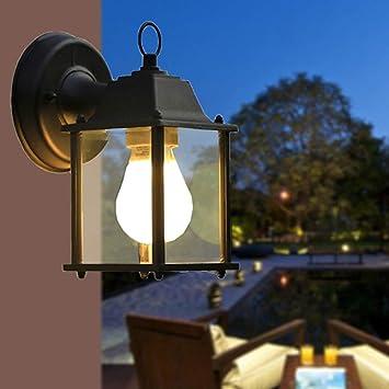 Lámpara Minimalista de Pared Moderna, Lámpara de Pared Exterior, Exterior, Negra, a Prueba de Agua, de Color Negro Lámparas de Pared para Exteriores Apliques Jardín Iluminación de Pared para Exterior: Amazon.es: Bricolaje