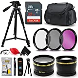 Professional 58MM Accessories Bundle Kit for Canon EOS Rebel T7i T7 T6i T6S T6 T5i T5 T3i SL2 SL1 EOS 80D 77D 70D 60D EOS 9000D 800D 760D 750D 700D 1300D 1200D