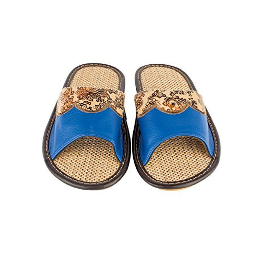 Anti Linen Slipper Sandals Absorb Floral House Open Toes Pattern Slip Womens Summer Linen Leather Haisum qRxngS4Pw