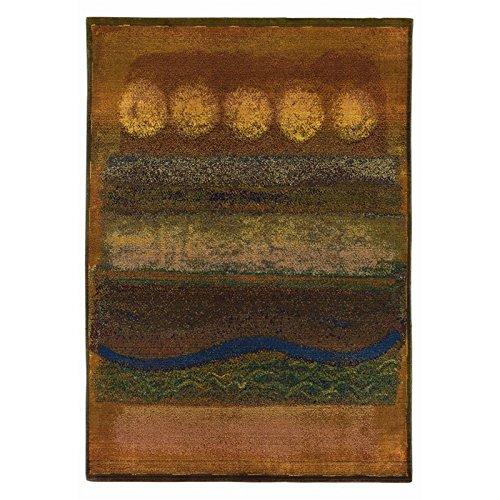 Oriental Weavers Kharma II 2' x 3' Machine Woven Rug in Gold