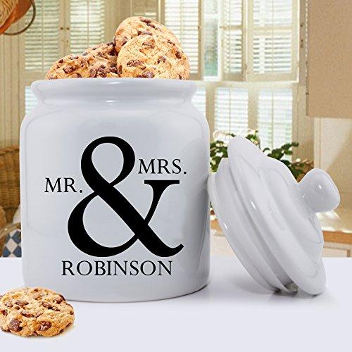Personalized Mr. & Mrs. Ceramic Cookie Jar (Jar Cookie Family)