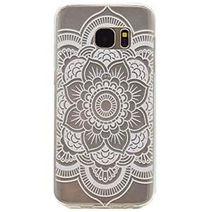 case cover para Samsung Galaxy S7,Crisant blanco Hualien Diseño Protección suave Transparente TPU Gel silicona Teléfono Celular Back funda Carcasa para Samsung Galaxy S7