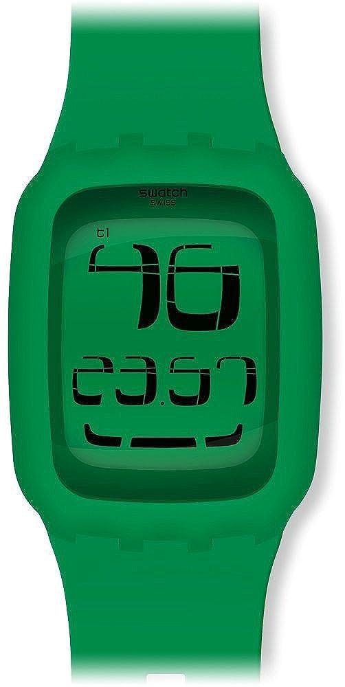 Swatch SURG102 - Reloj digital de cuarzo unisex con correa de plástico, color verde: Amazon.es: Relojes