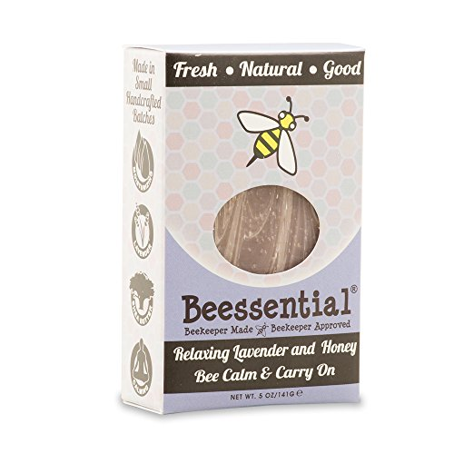 Beessential All Natural Honey & Lavender Small Batch Bar Soap- Great for Men, Women, and Children - Paraben Free - Made in USA - 5 Oz.