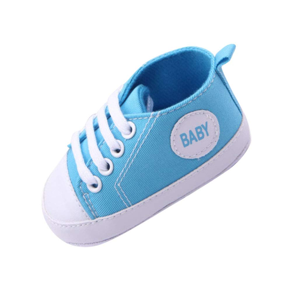 Forart Baby Boys Girls Canvas Toddler Sneaker Anti-slip Candy Shoes for 0-12 Months