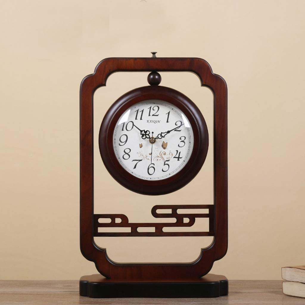 Family Fireplace Clocks Chinese Style Double-Sided or Wooden Clock Fashionable Wooden Watch Living Room Clock Decoration ó n Bedroom Suitable for EST Room