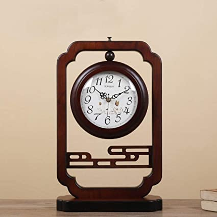 Family Fireplace Clocks Chinese Style Double-Sided or Wooden Clock Fashionable Wooden Watch Living Room