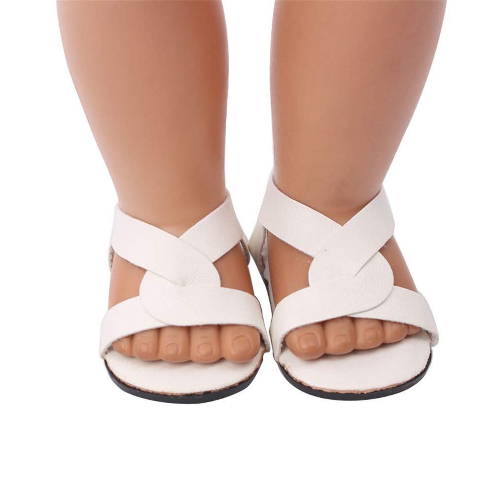 YUYOUG Doll Shoes Lovely Sandals Shoes Fits 18 Inch Our Generation American Girl Doll Accessory Girls' Toy New (A)