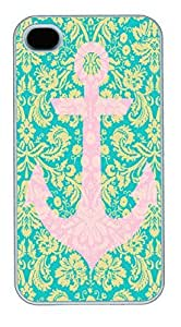 IPhone 4S Cases Pink Auchor HAC1014385 Polycarbonate Hard Case Back Cover for iPhone 4/4S White