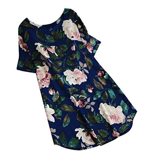 Taille Robe Taille Robe et Longue de Lin Longue en Imprim et Grande bleu en Longue Robes Femme Coton ELECTRI Grande Casual Caftan Manche H Lin Coton Floral 0zdqwwO