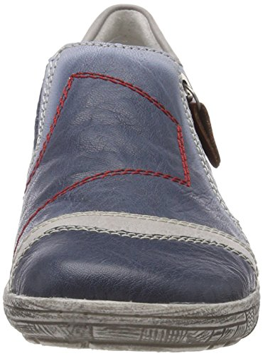 Remonte Women's D3809 Loafers Blue (Azur/Ice/Rosso) 6oN8o
