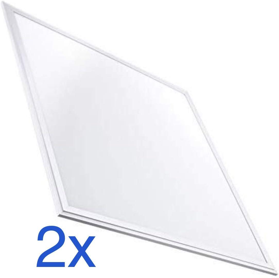 Led Atomant 2x Panel Led 60 x 60 cm, 40 W, 3200 lumenes, Blanco Frio, 6500K. Driver Incluido, 595x595x9mm, 2