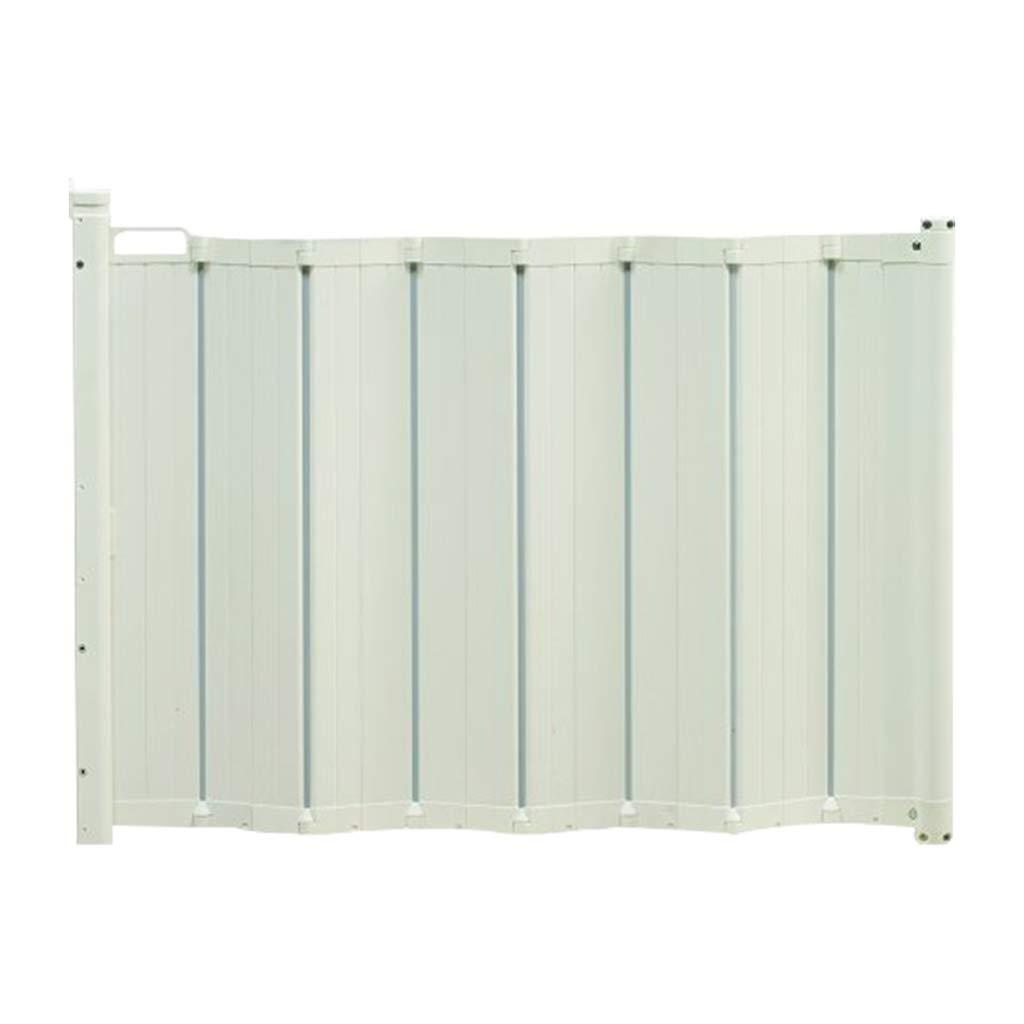 プレッシャードア、自動引き込み式ベルト安全保護装置ルーバーデザイン、階段回廊安全保護ドア、ホワイト (サイズ さいず : A pressure door) A pressure door  B07JVBZJK7