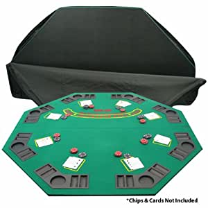 Trademark Poker Deluxe Solid Wood Poker and Blackjack Table Top with Case